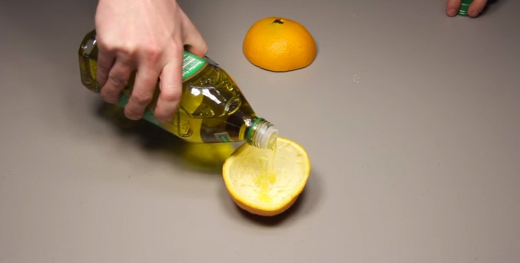 By Pouring The Oil Inside The Orange You Have All The Ingredients For A  Working Oil Lamp, Wick And All. If Done Properly, Each Lamp Will Give You  Around 6 8 ...